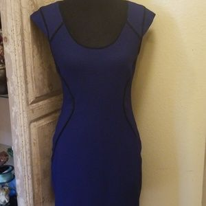 Express size 8 dark blue textured dress